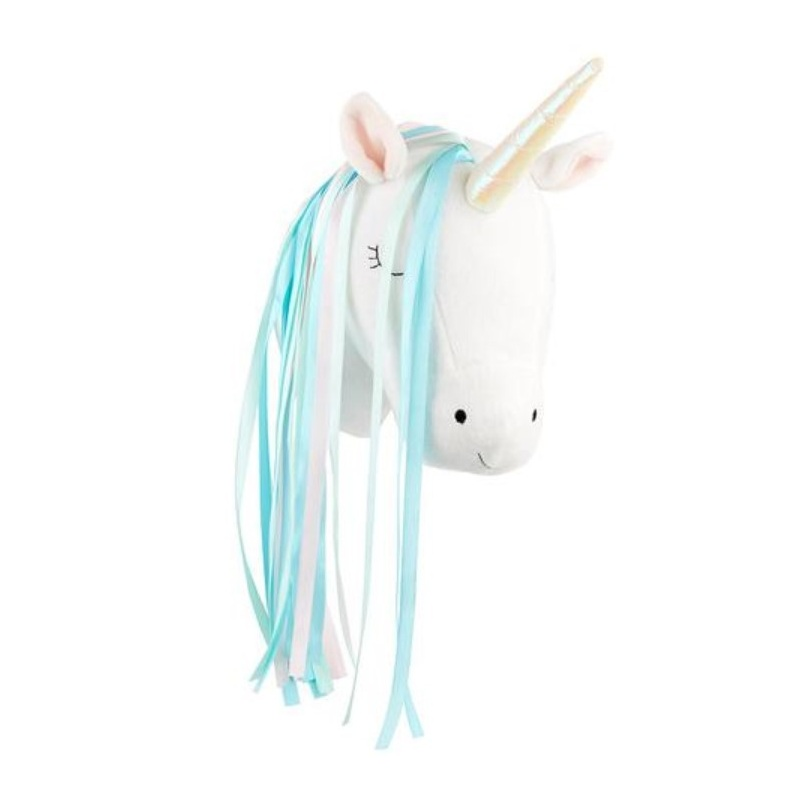 Cute 3D Animals Unicorn Head Wall Hanging Mount Kids Room Home Kindergarten Decor Artwork Wall Dolls Photo Props Nordic Style