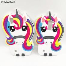 For LG X Power Coque Soft Silicone Rainbow Unicorn Cover Capa For LG X Power k220ds k220 Fundas Pony Horse Cartoon Phone Cases смартфон lg x power k220 dual sim gold