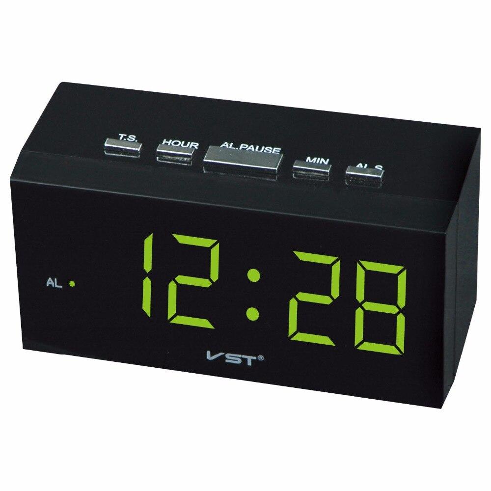 NOUVEAU! Horloge de table numérique prise ue horloge lumineuse led avec alarme et grands chiffres lumineux horloge led numérique de bureau à domicile