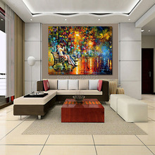Handpainted modern Passion Evening PALETTE KNIFE Modern Oil Painting On Canvas