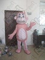 Pink dot monkey mascot costumes apes and monkeys mascot costumes