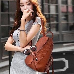 Image 2 - 2019 Designer Backpacks Brand Travel Shoulder Bag Female Backpack For Girls Sac a Dos Vintage Bagpack Ladies Mochilas Back Pack