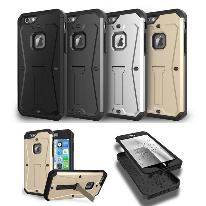 High Quality Future Military Tanks Armour Hybrid Armor Stents Case Cover For 4.7″ iPhone6 5.5″ iphone 6 6S Plus Waterproof Cases