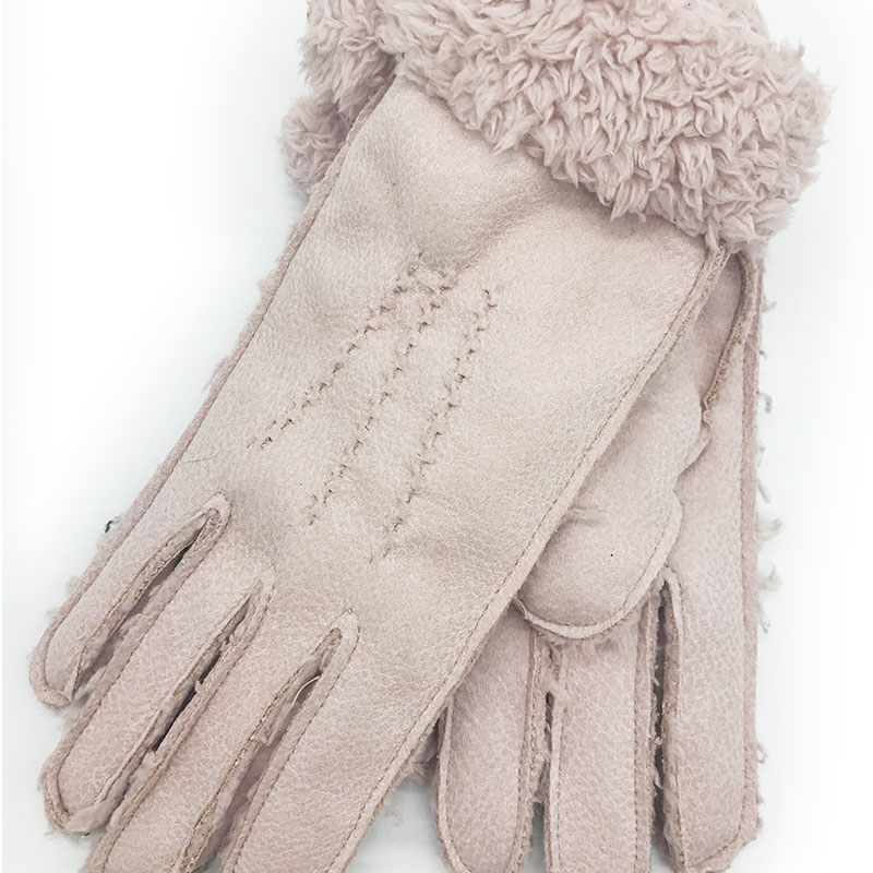 Winter Gloves 2020 New Women's Gloves Fashion Personality Fur One Windproof Warm Wool Mittens Outdoor Travel Knit Gloves