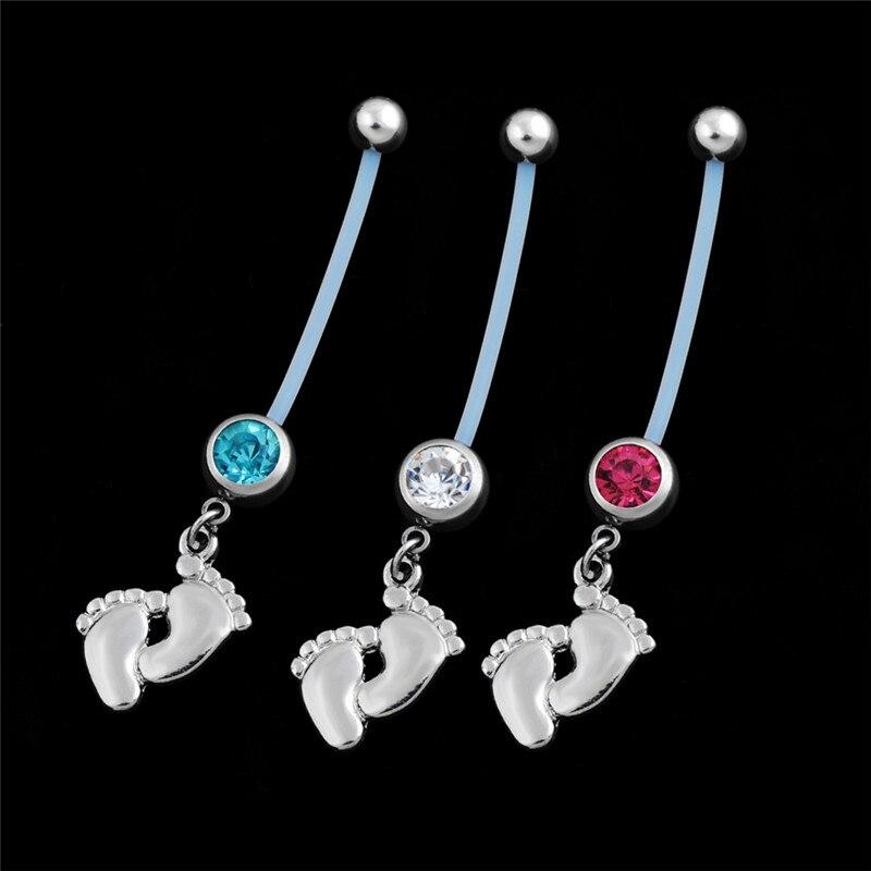Модные хирургические стальные кольца для беременных женщин, пуговки для живота, пирсинг, болтаются, ювелирные изделия для пирсинга тела