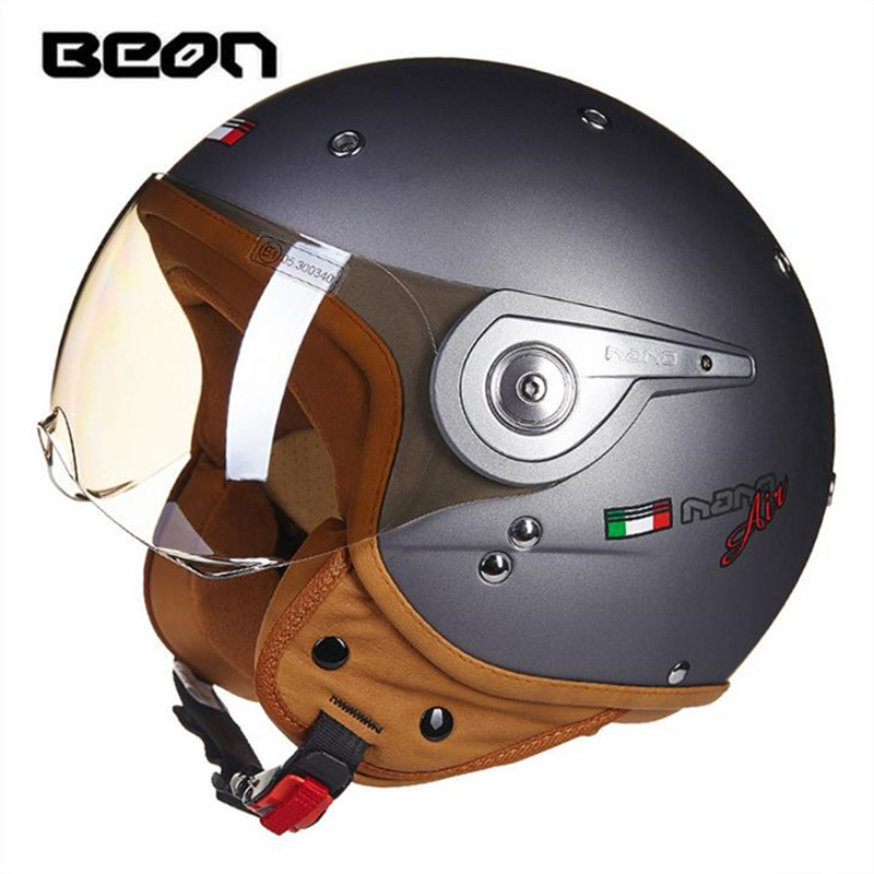 BEON motorcycle helmet electric car scooter helmet summer half helmet fashion harley helmet
