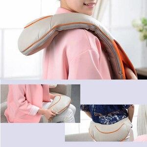 Image 5 - U Shape Electrical Shiatsu Back Neck Shoulder Body Massager Infrared Heated Kneading Home Massager Multifunctional Shawl