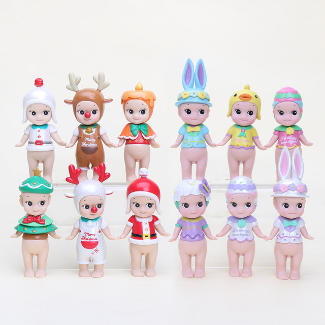6 шт./компл. Сонни цифры Ангел Рождество серии Пасха серии PVC Фигурки Коллекционная модель Игрушечные лошадки Куклы дети подарки 8 см