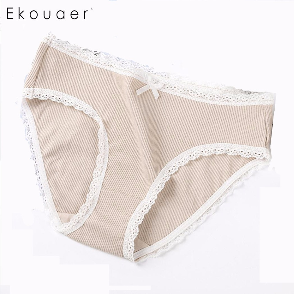 Detail Feedback Questions about Ekouaer Women Panties Underwear Cotton Soft  Seamless Girl Lovely Lace Trim Briefs Breathable Female Lingerie Underpants  5 ... 6af259d9c