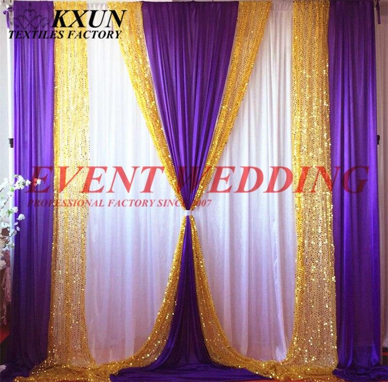 Buena calidad hielo seda lentejuelas telón de fondo cortina escenario boda evento Decoración-in Trasfondos para fiestas from Hogar y Mascotas    1
