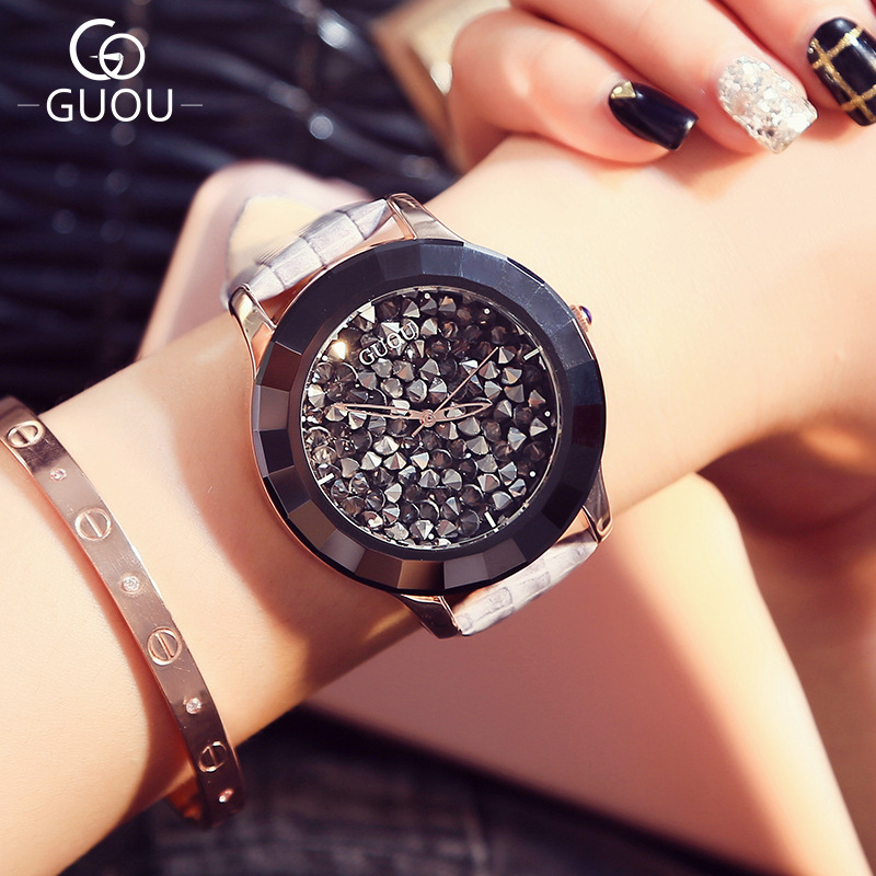 Large Dial Women's Watch 2018 New Design Lady Dress Clock Full Rhinestone Analog Quartz Wristwatches Zegarek Damski