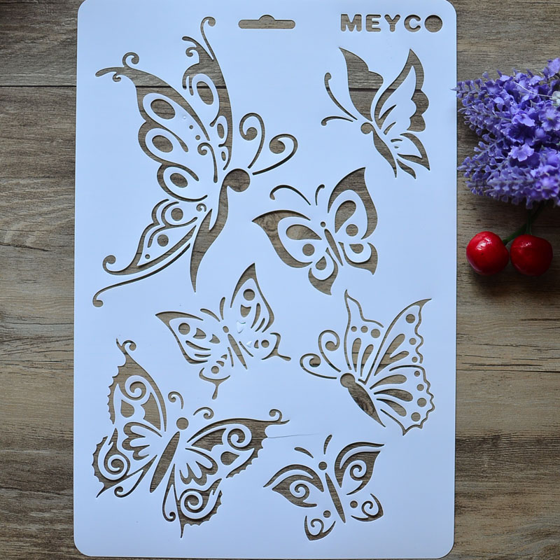 Popular butterfly wall stencils buy cheap butterfly wall - Plantillas para pintar paredes para imprimir ...