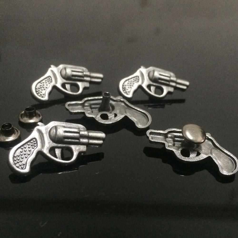 50PCS 13x26MM Antik Gümüş Silah Studs Perçinli Punk Silah - İncəsənət, sənətkarlıq və tikiş - Fotoqrafiya 2