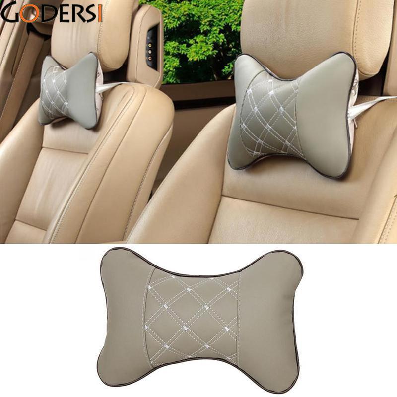 Godersi 1 шт. автокресло Глава Шея Отдых подушки безопасности Поддержка подголовник Pad для Ford BMW для TOYOTA для Volkswagen искусственная кожа