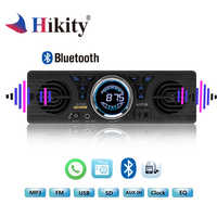 Hikity Autoradio 1 Din Car Radio 12V Bluetooth 2.1+EDR Vehicle Electronics MP3 Audio Player Car Stereo FM Radio with USB/TF Card