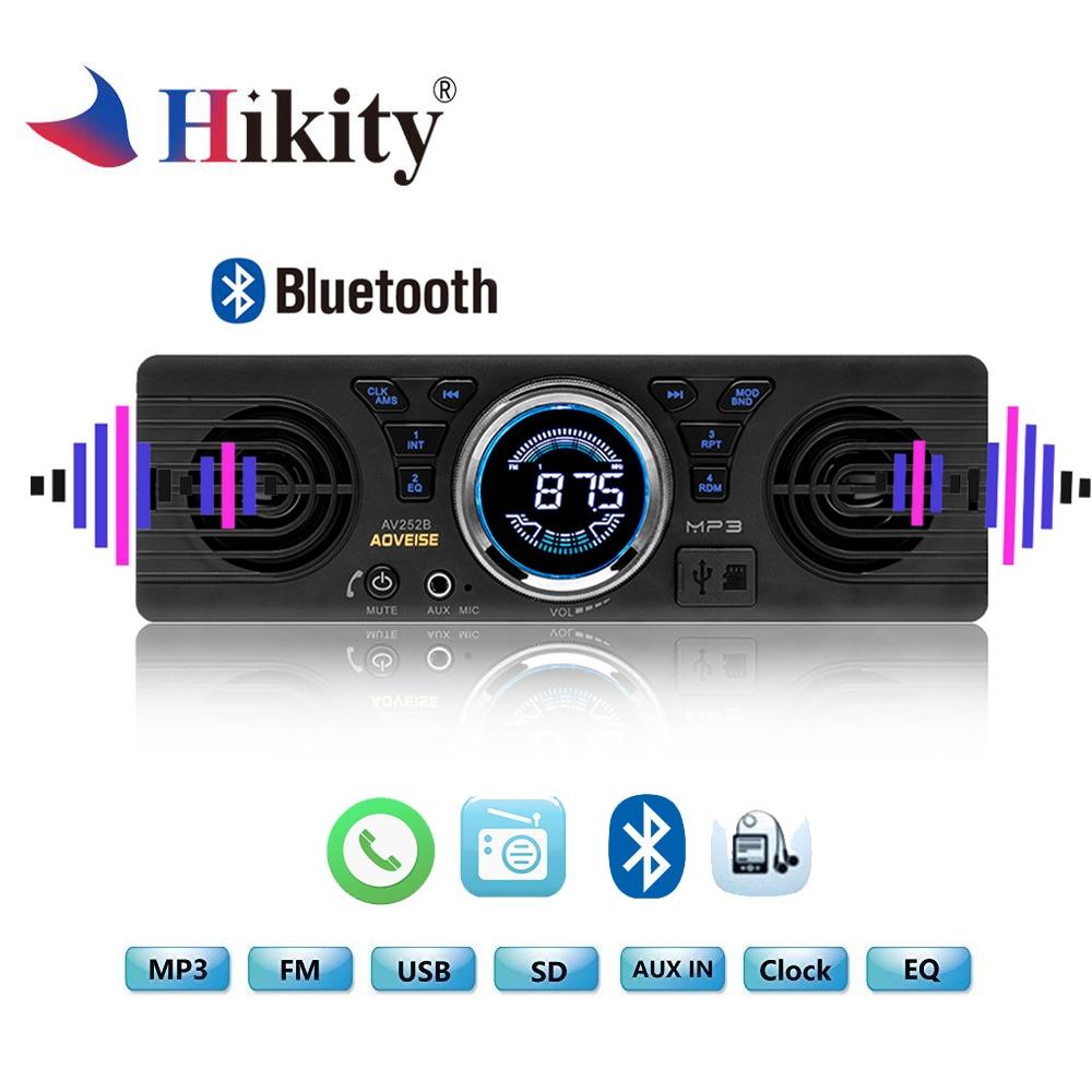 Hikity font b Car b font mp3 player 12V Bluetooth 2 1 EDR Vehicle Electronics MP3