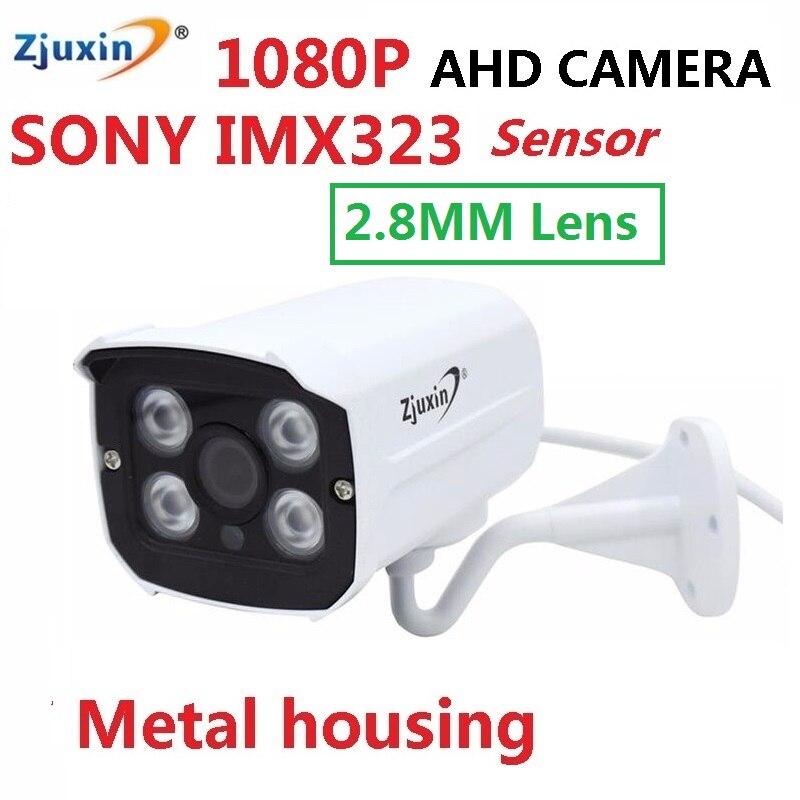 ZJUXIN 2.8mm 1080 p ahd macchina fotografica 4 pz serie di LED SONY IMX323 3mp 2.8mm wide-angle lens soluzione di Buon giorno notte 1080 p ahd kamera