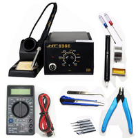 220V 60W Constant Adjustable Temperature Electric Soldering Station Intelligent Temperature Control Soldering Iron + Multimeter Electric Soldering Irons