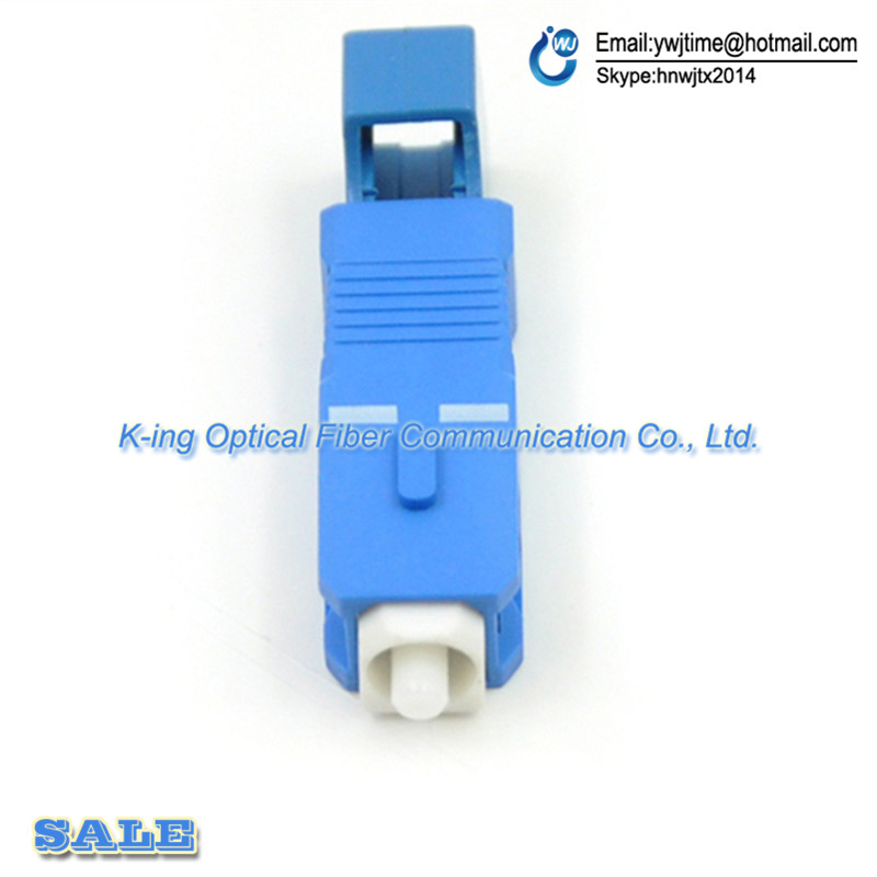 Free Shipping SC UPC Male to LC UPC Female Fiber Optic Adapter SC-LC/UPC Hybrid Optical Adaptor