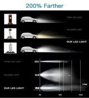 עבור שברולט Bevinsee 1 סט רכב LED ערפל פנסי 9-36V עבור שברולט מפולת 2007 2008 2009 2010 2011 2012 2013 H11 לבן הפנסים (3)