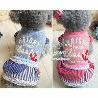 Kleine verse hond jurk hond kleding kat hond rok lente en zomer Leuke huisdier rok 5 size 2 kleuren