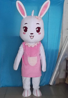 cute bunny rabbit mascot costumes party Halloween character party gift Fancy Dress school team sport Adult Size hot sale