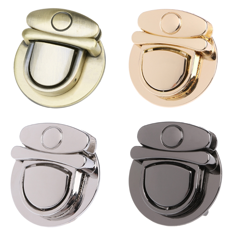 THINKTHENDO Buckle Twist Lock Hardware For Bag Shoulder Handbag DIY Craft Turn Locks Clasp