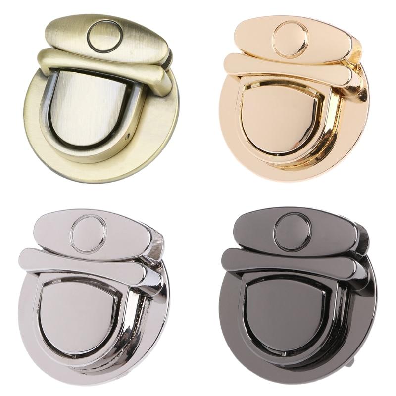 THINKTHENDO Buckle Twist Lock Hardware For Bag Shoulder Handbag DIY Craft Turn Locks Clasp
