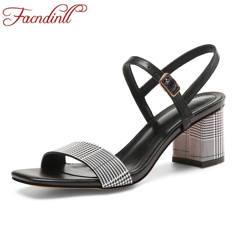 FACNDINLL genuine leather summer shoes woman stripe lattice sandals high heels grace open toe women casual date platform sandals facndinll new women summer sandals 2018 ladies summer wedges high heel fashion casual leather sandals platform date party shoes