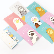30 Sheets/pad Cute Cat Claw Memo Pads Sticky Notes Kawaii Paper Notepad Stickers Office School Stationery(China)
