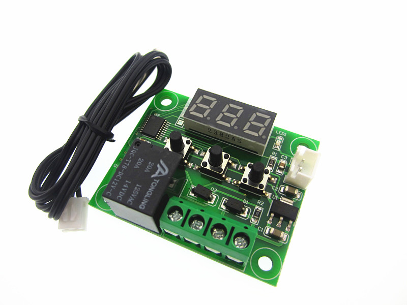 цены 5PCS W1209 DC 12V heat cool temp thermostat temperature control switch temperature controller thermometer thermo controller