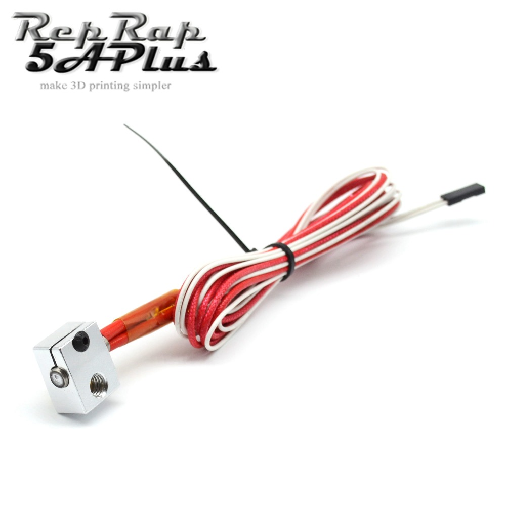 V6 J Head Hotend Heating Aluminum Block Thermistor With 2 Pin Ceramic Wiring Heater 12v 24v 40w For 3d Printer Part In Parts Accessories From