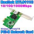 Controlador de rede Cartão 10/100/1000 Mbps RJ45 Lan Adapter Converter PC Desktop Do Computador 1000 Gigabit Ethernet PCI expressar PCI-E