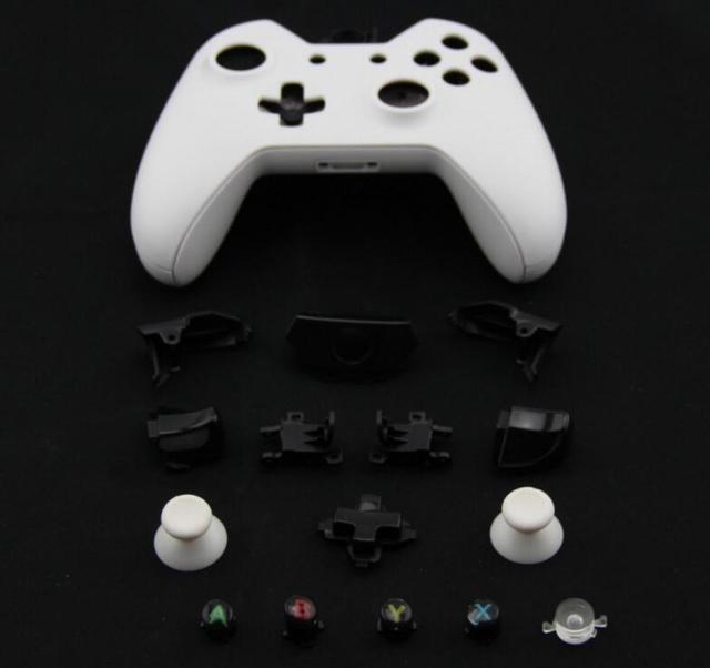 อุปกรณ์เกมสำหรับX Boxหนึ่งควบคุมไร้สายเต็มเปลี่ยนที่อยู่อาศัยเปลือกหอยและปุ่มกรณีฮาร์ดพื้นผิว
