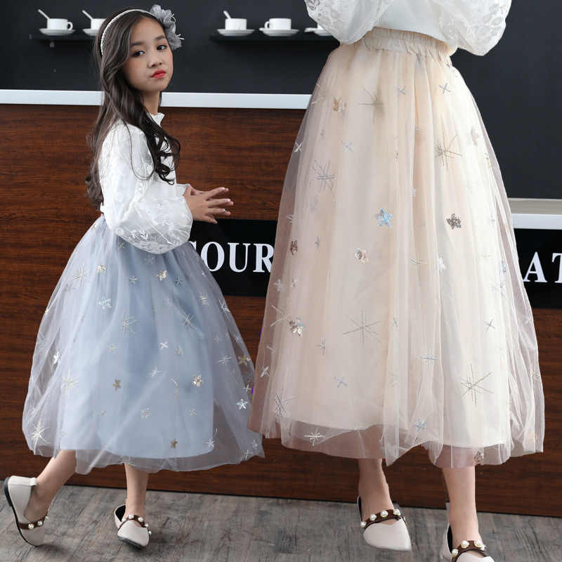 c0ca406f01 Girls Skirts Autumn Winter Kids Clothing Summer Girl Mesh Long Skirt Ball  Gown Baby Girl Clothes