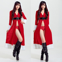 Cute Solid Polyester Sexy Christmas Costumes Party Cosplay Costumes Uniform Temptation School Girl Costumes