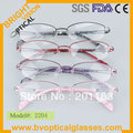 2204 Women's free shipping new design metal frame with acetate temple prescription spectacles eyewear