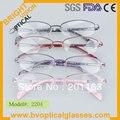 2204 das mulheres frete grátis novo design de metal quadro com o templo de acetato óculos de grau óculos