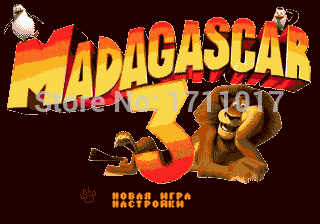 Madagascar 3 16 bit MD Game Card For Sega Mega Drive For Genesis