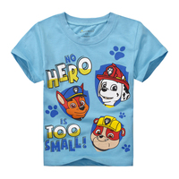 Summer Cotton Children Blue Tops Boys Cartoon T Shirts Printed Breathable Latest Jersey T Shirts For