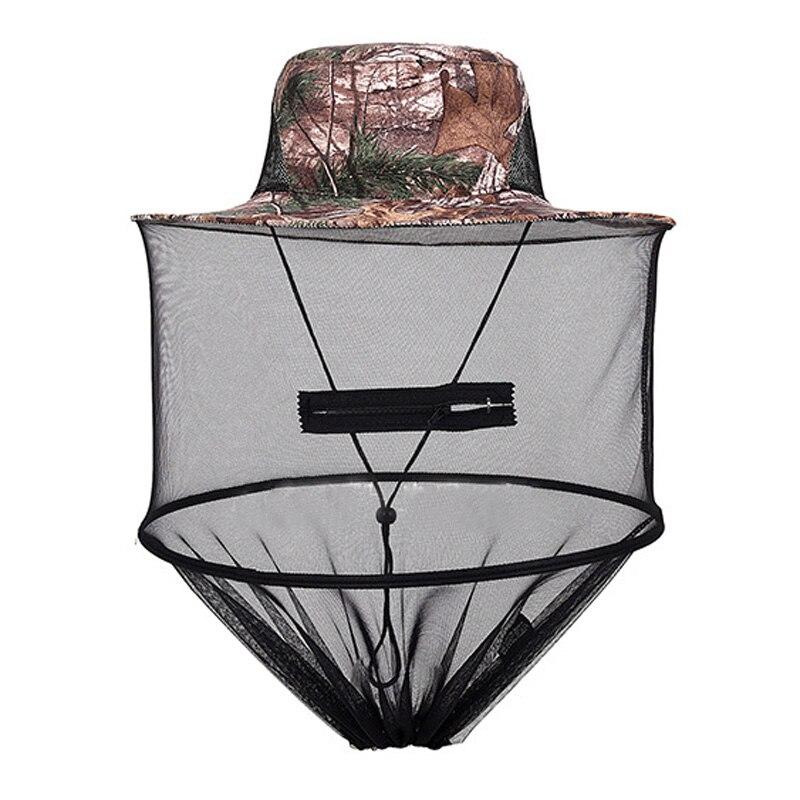 Garden Supplies Head Shield Net Fishing Camping Wild Jungle Facial Mask Protect Cap Top Midge Insect Mosquito Cap Unisex Knit Bucket Hat Net