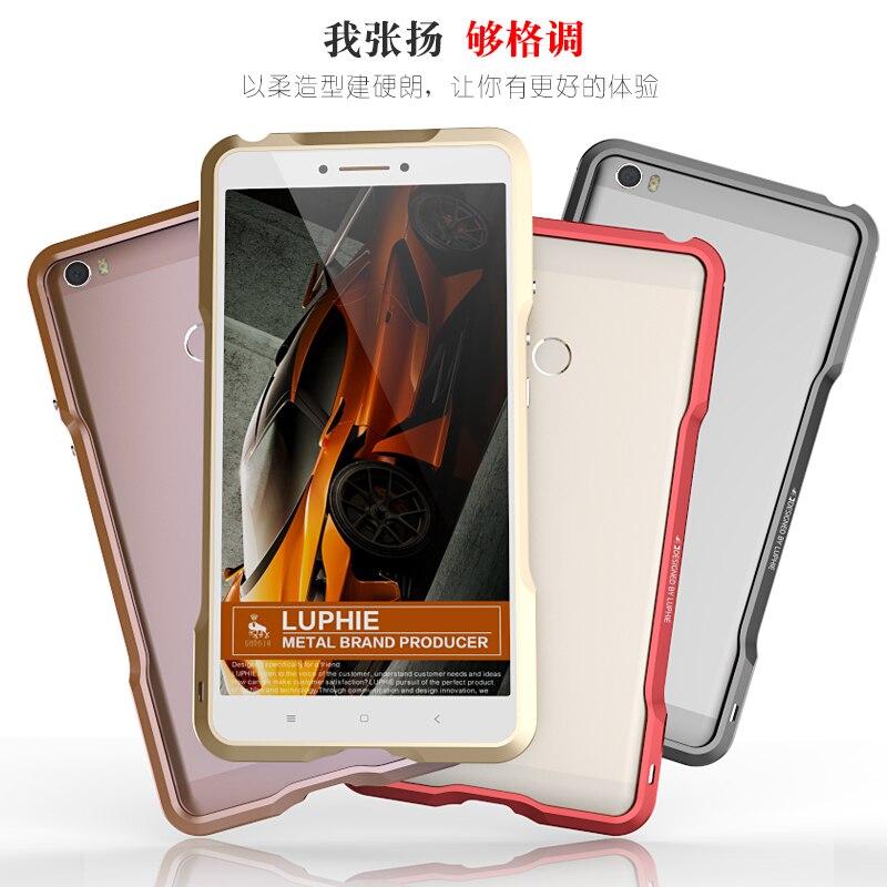 imágenes para Cubierta Cajas del teléfono para Xiaomi mi Max Marca Luphie Original de Alta Calidad de Aluminio del Metal del Caso del Capítulo de Vivienda de Protección A Prueba de Golpes