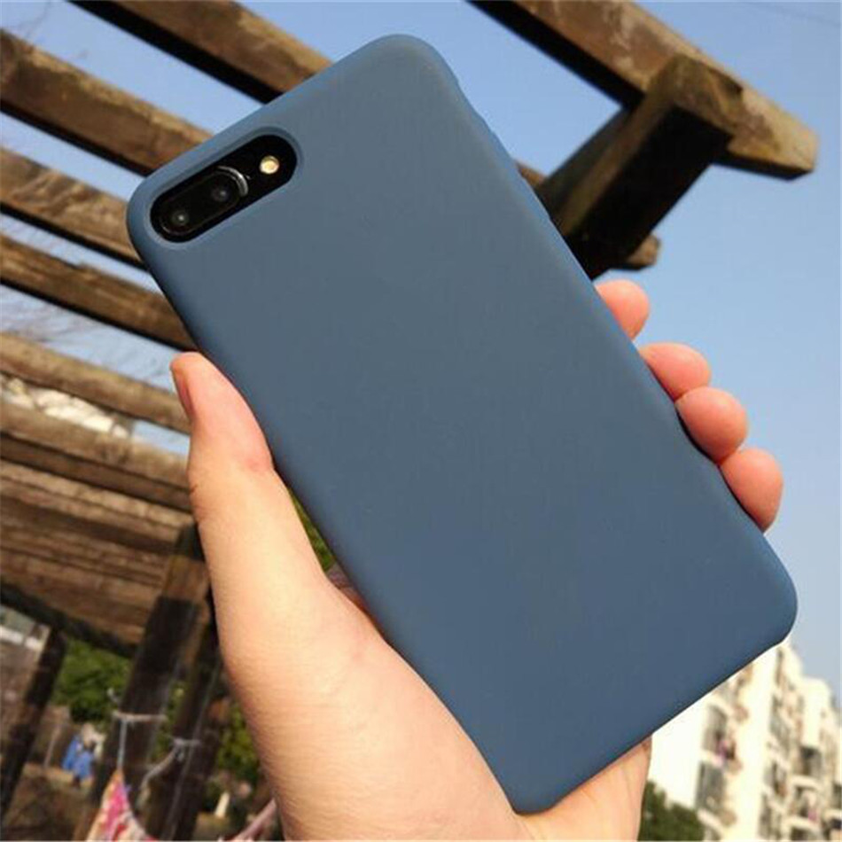 Original Silicone Case on iPhone 7 8 6 6S Plus X 5s 05