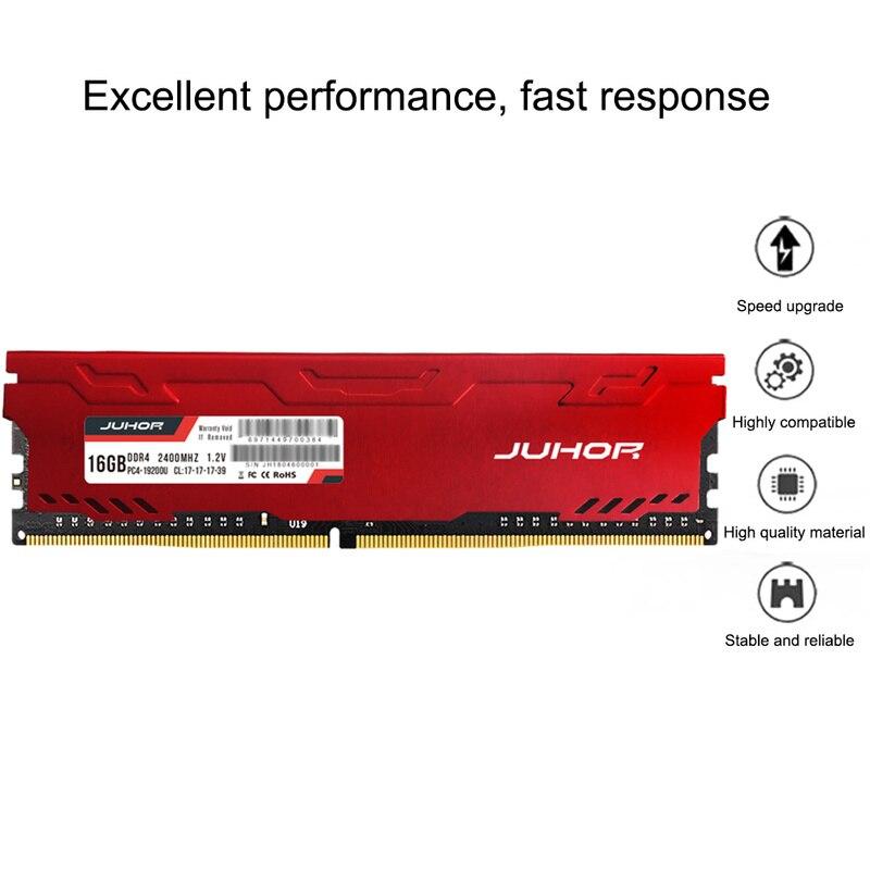 DDR4 Ordinateur De Bureau De Mémoire RAM 4GB 8GB 16GB 2666MHZ DDR4 2400mhz U-DIMM PC4-19200 288 broches non ECC MÉMOIRE RAM GO MÉMOIRE Rougeoyante Chaude