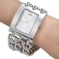 2013 New Fashion Bracelet Watch Quartz Men Women Unisex Silver Wristwatch
