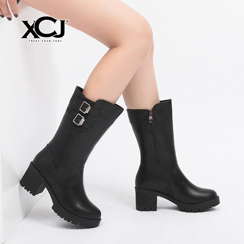 35dd9f38e Купить Женские сапоги из натуральной кожи, женская зимняя обувь ...