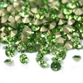 Peridot Color~SS20~SS40 Round Crystal loose Pointback rhinestones,Glass glue on Garment/Nail art Rhinestones
