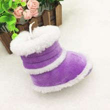 New Baby Boots Infant Toddler Girls Boys Slip On Winter Warm Soft Sole Shoes Boots