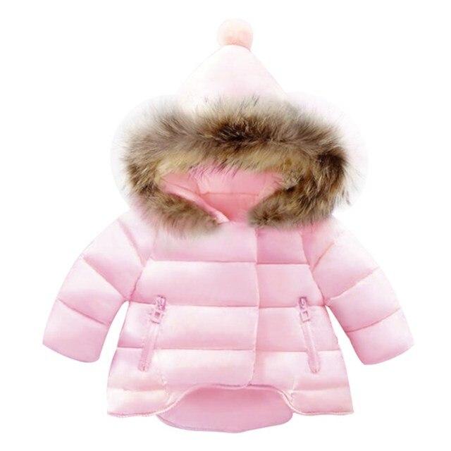 6dedb806ea0b9d Baby Girls boys Down Jacket winter Coats Kids fashion Warm Hooded Outwear  snowsuit Clothes Toddler parka Thicken Windbreaker