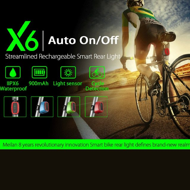 basecamp Meilan X6 LED Bicycle Cycling Tail Light 7 Modes Intelligent Induction